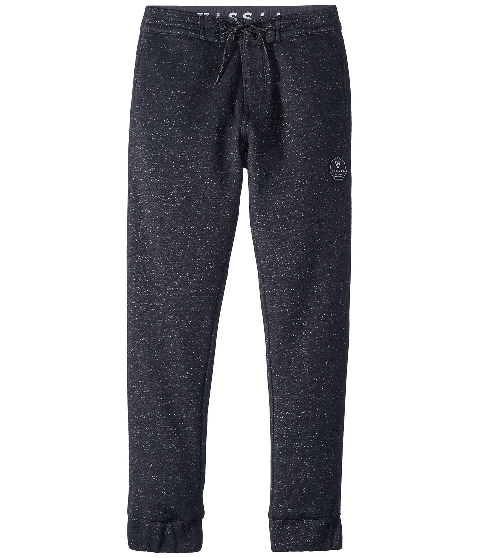 VISSLA Kids - Sofa Surfer Pant All Sevens Fleece Pants (Big Kids) (Black) Boys Casual Pants