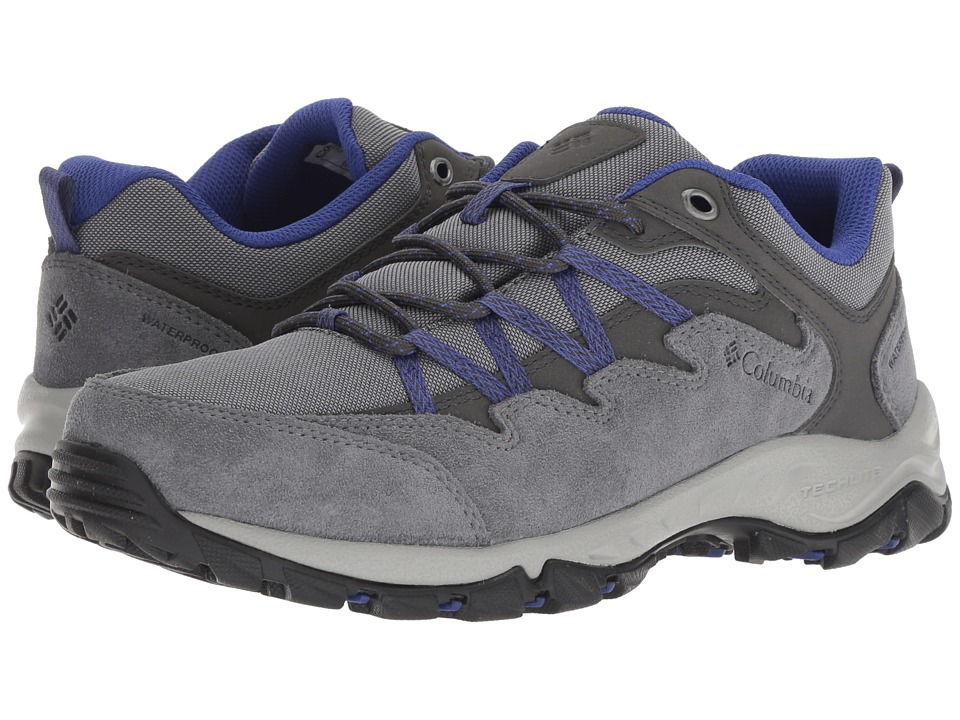 Columbia Wahkeena Waterproof (Ti Grey Steel/Clematis Blue) Women's Shoes