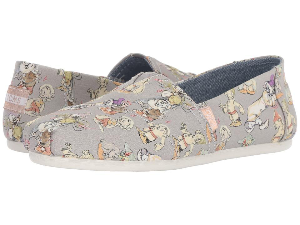 TOMS Disney Alpargata (Grey Seven Dwarfs Printed Canvas) Women's Shoes