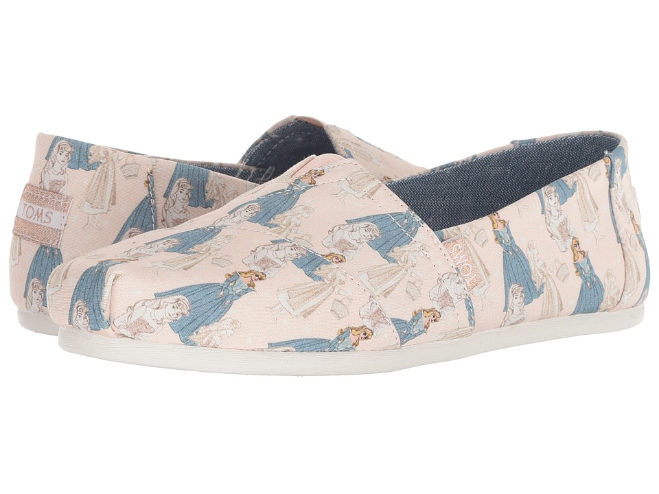 TOMS Disney Alpargata (Pink Sleeping Beauty Printed Canvas) Women's Shoes