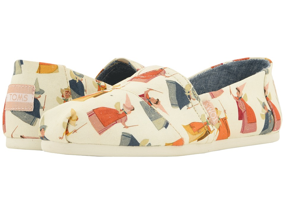 TOMS Disney Alpargata (Natural Fairy Godmother Printed Canvas) Women's Shoes