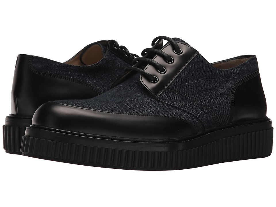 Paul Andrew - Ethan Canvas Leather Oxford (Indigo/Black) Mens Shoes