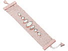 GUESS Matte Wide Mesh Bracelet with Stones