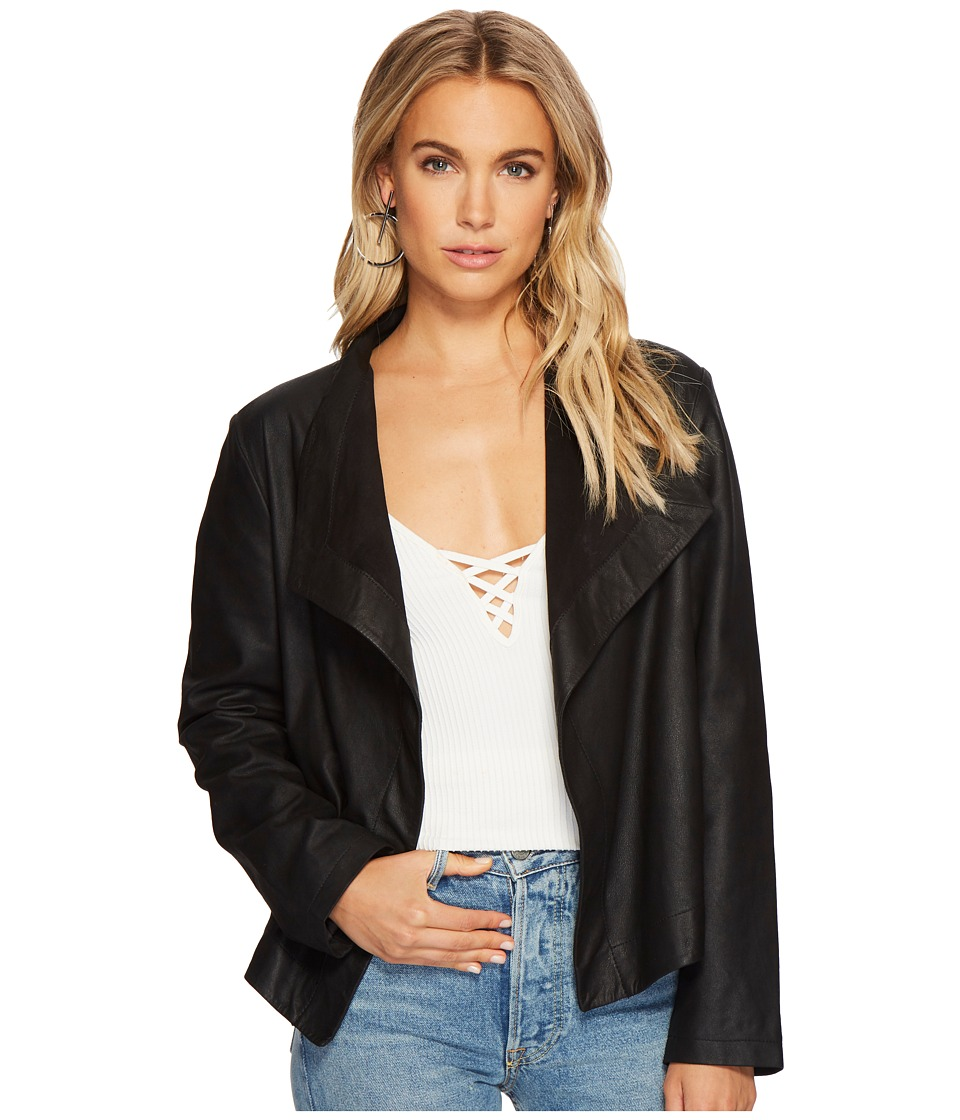 BB Dakota - Emerson Leather Jacket (Black) Womens Jacket