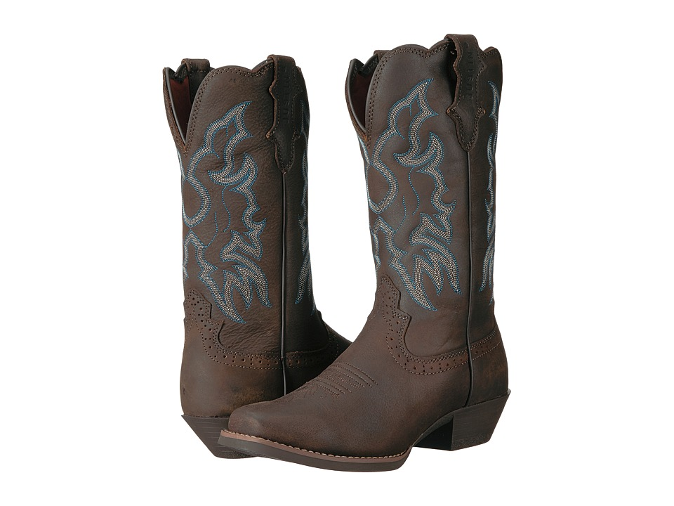 Justin - Brandy (Chocolate) Cowboy Boots