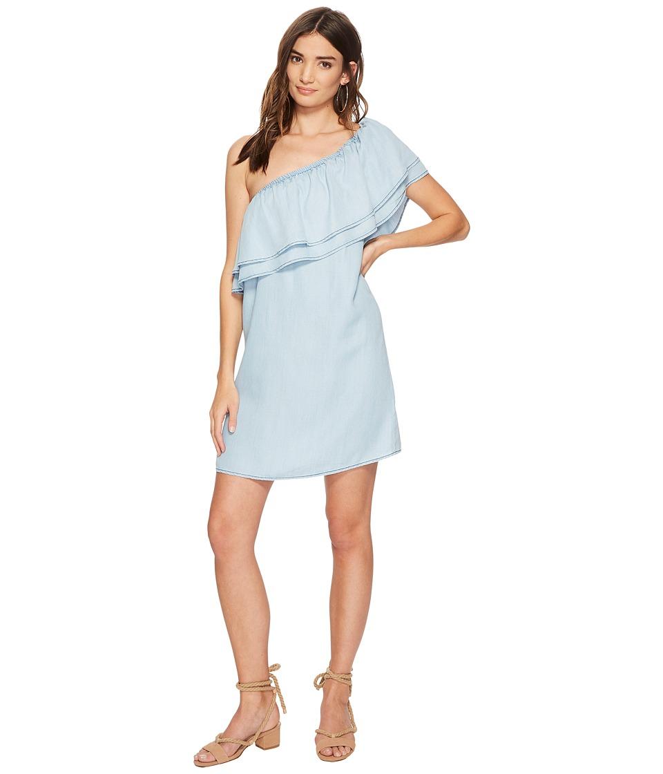 BB Dakota - Isla One Shoulder Dress (Chambray) Womens Dress