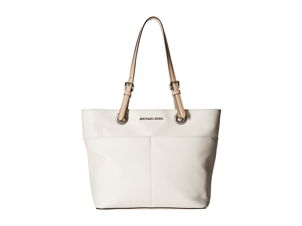 MICHAEL Michael Kors - Bedford Top Zip Pocket Tote (Optic White) Tote Handbags