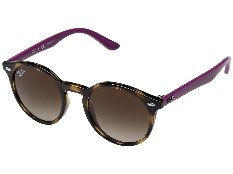 Ray-Ban Junior RJ9064S 44mm (Youth) (Havana/Brown Gradient 2) Fashion Sunglasses