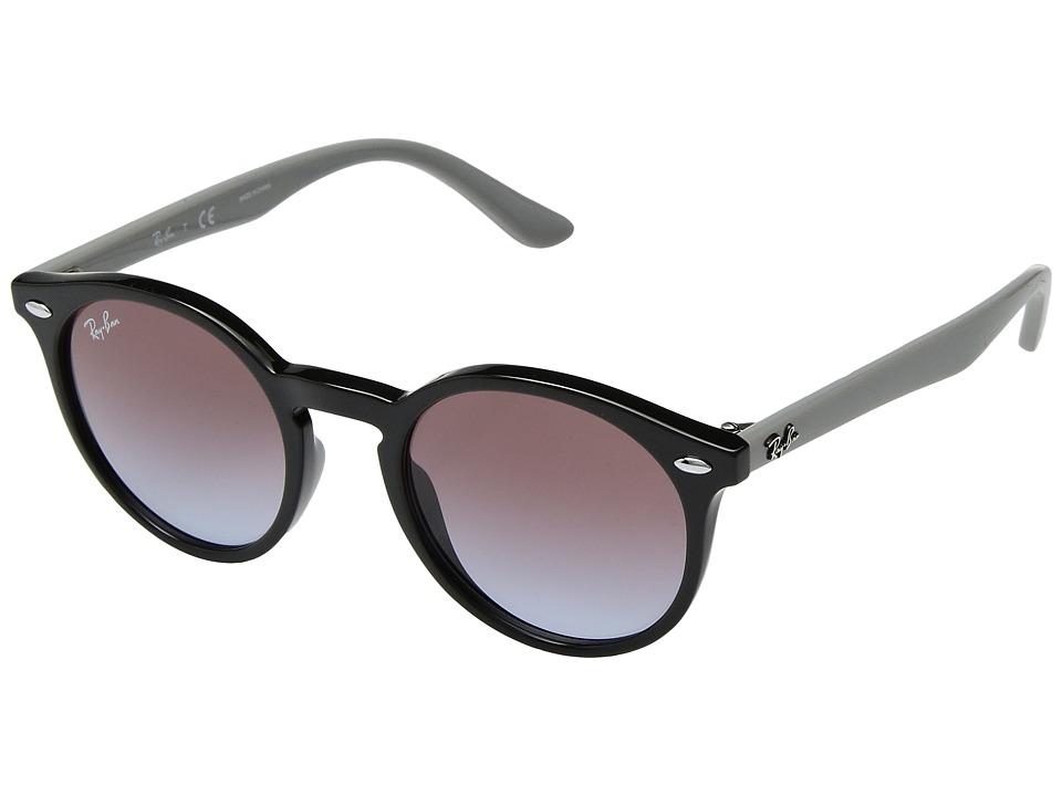 Ray-Ban Junior RJ9064S 44mm (Youth) (Black/Light Blue Gradient Violet) Fashion Sunglasses