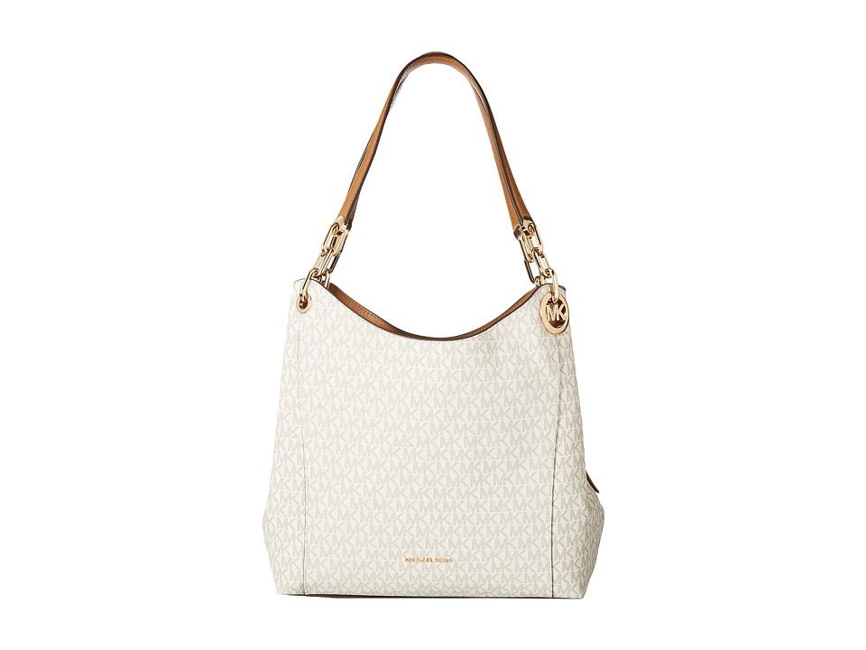 Michael Kors Fulton Large Charm Shoulder Tote Vanilla Handbags