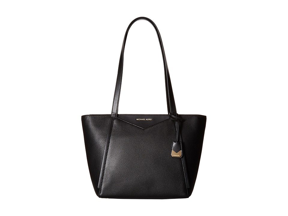 Michael Kors Whitney Small Top Zip Tote (Black) Tote Hand...