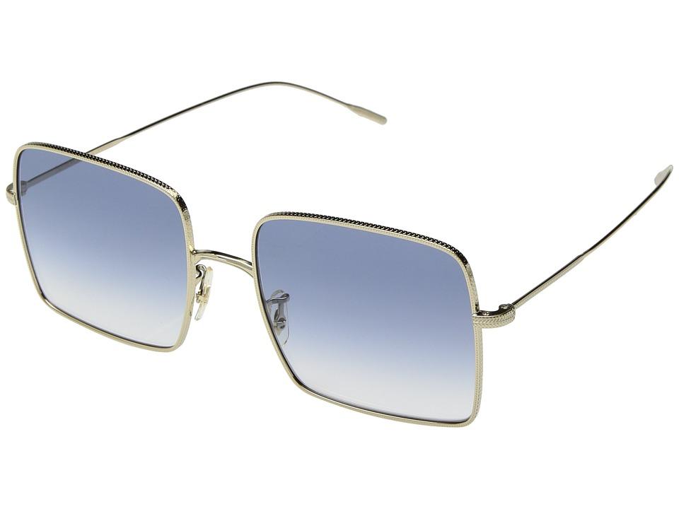 Oliver Peoples - Rassine (Soft Gold/Light Blue Gradient) Fashion Sunglasses