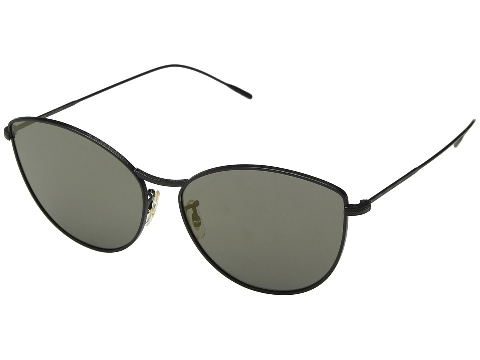 Oliver Peoples - Rayette (Matte Black/Graphite Gold) Fashion Sunglasses