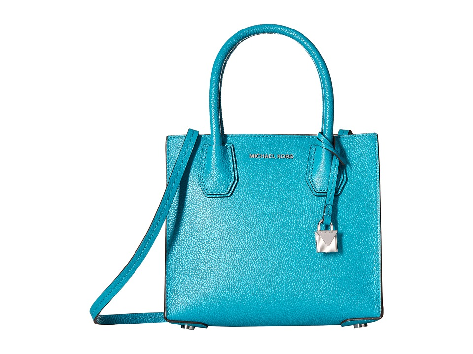 MICHAEL Michael Kors - Mercer Medium Messenger (Tile Blue) Messenger Bags