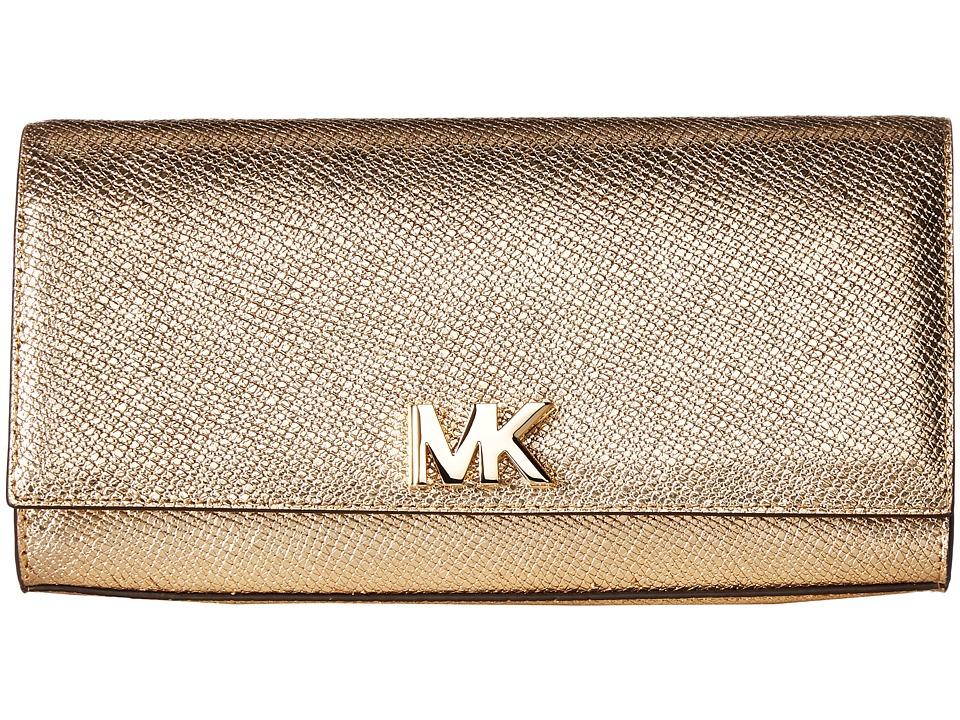 Michael Kors Mott Large East West Clutch Pale Gold Handbags