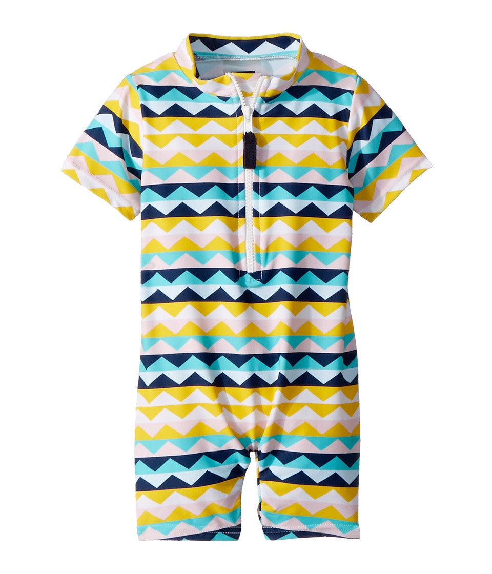 Toobydoo - Fun Pattern Sunsuit (Infant/Toddler) (Multi) Kids Jumpsuit & Rompers One Piece
