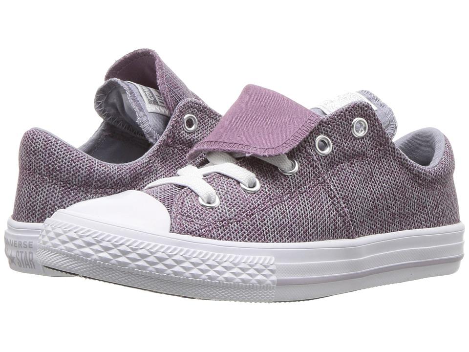Converse Kids Chuck Taylor(r) All Star(r) Maddie Ox (Little Kid/Big Kid) (Violet Dust/Provence Purple/White) Girl