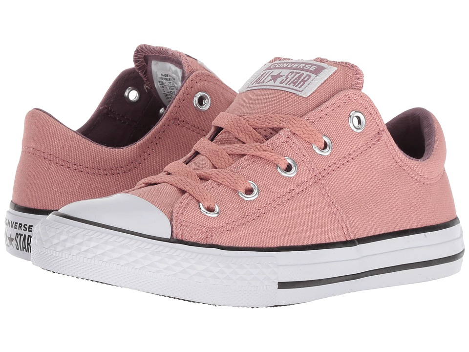 Converse Kids Chuck Taylor(r) All Star(r) Madison Ox (Little Kid/Big Kid) (Rust Pink/Violet Dust/White) Girls Shoes