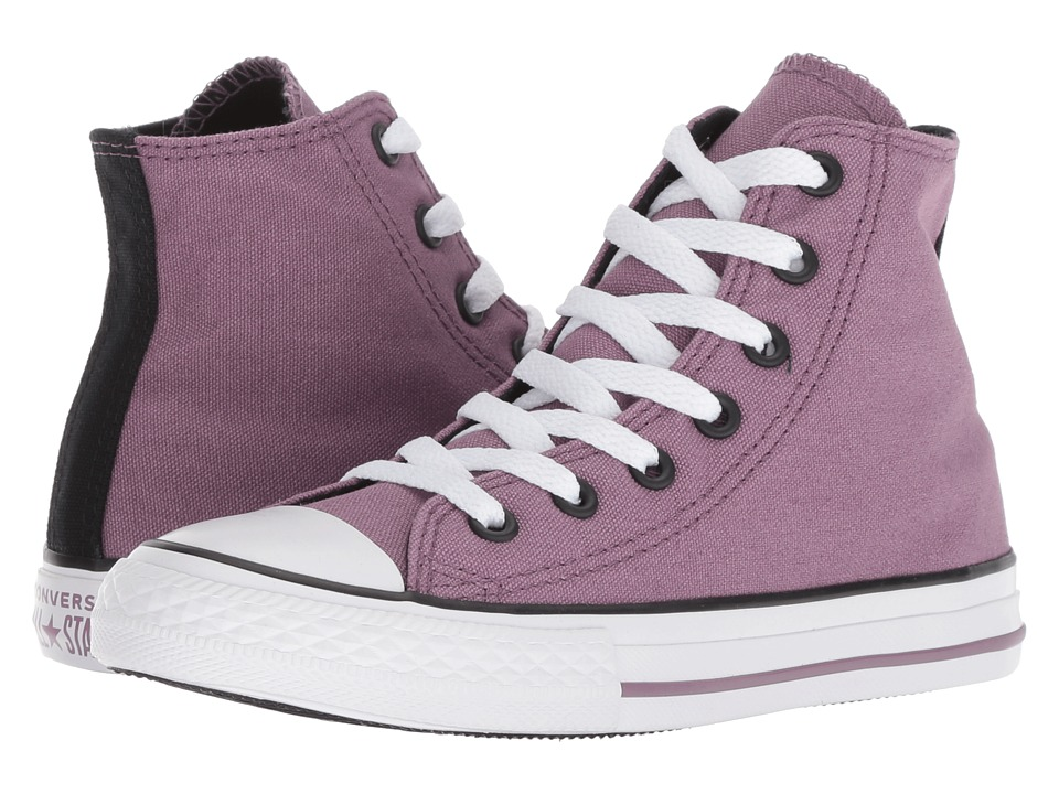 Converse Kids Chuck Taylor(r) All Star(r) Seasonal Hi (Little Kid/Big Kid) (Violet Dust/Black/White) Girl