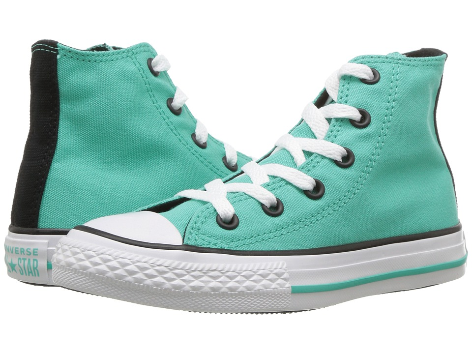 Converse Kids Chuck Taylor(r) All Star(r) Seasonal Hi (Little Kid/Big Kid) (Pure Teal/Black/White) Girl