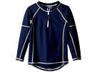 Toobydoo Navy Rashguard w/ Long Sleeves (Infant/Toddler/Little Kids/Big Kids)