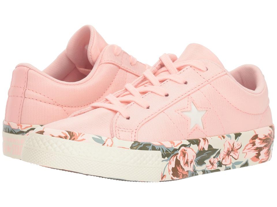 Converse Kids One Star Ox (Little Kid) (Storm Pink/Egret/Desert Peach) Girls Shoes