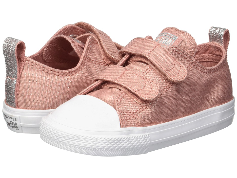 Converse Kids Chuck Taylor(r) All Star(r) 2V Ox (Infant/Toddler) (Rust Pink/Rust Pink/White) Girls Shoes