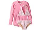 Toobydoo Toobydoo Pink Dot Bikini Rashguard Set (Infant/Toddler/Little Kids/Big Kids)