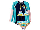 Toobydoo Toobydoo Fun Pattern Bikini Rashguard Set (Infant/Toddler/Little Kids/Big Kids)