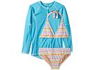 Toobydoo Toobydoo Rainbow Stripe Bikini Rashguard Set (Infant/Toddler/Little Kids/Big Kids)