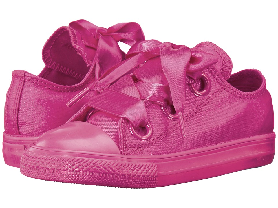 Converse Kids Chuck Taylor(r) All Star(r) Big Eyelets Ox (Infant/Toddler) (Pink Pop/Pink Pop/Pink Pop) Girl