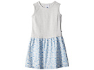 Toobydoo Sweet Grey and Soft Blue Tank Dress (Toddler/Little Kids/Big Kids)