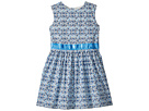 Toobydoo Toobydoo Blue and Aqua Garden Party Dress (Toddler/Little Kids/Big Kids)