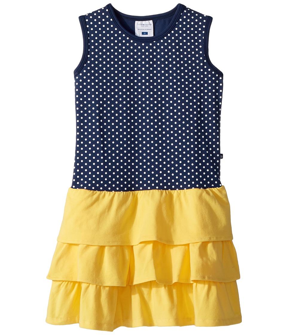Toobydoo - Sweet Summer Navy Yellow Tank Dress (Toddler/Little Kids/Big Kids) (Navy/Yellow) Girls Dress