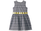 Toobydoo Navy and Yellow Garden Party Dress (Toddler/Little Kids/Big Kids)