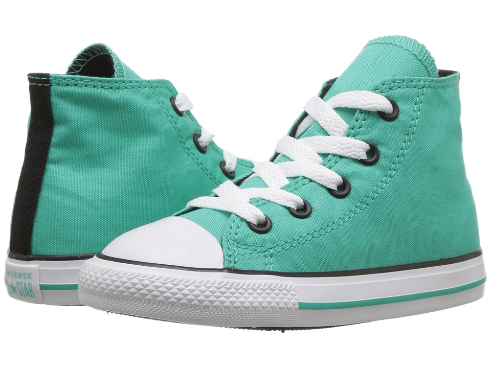 Converse Kids Chuck Taylor All Star Hi (Infant/Toddler) (Pure Teal/Black/White) Girl