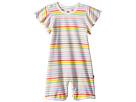 Toobydoo Toobydoo Rainbow Wing Sleeve Shortie Jumpsuit (Infant)