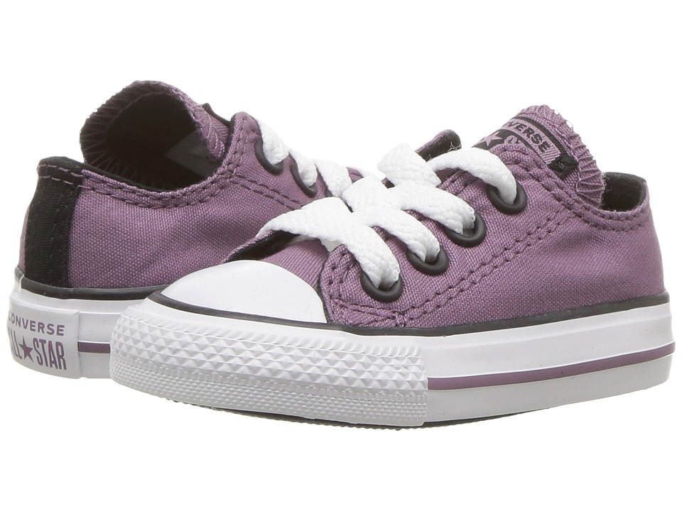Converse Kids Chuck Taylor All Star Ox (Infant/Toddler) (Violet Dust/Black/White) Girl