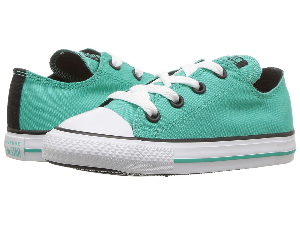 Converse Kids Chuck Taylor All Star Ox (Infant/Toddler) (Pure Teal/Black/White) Girl