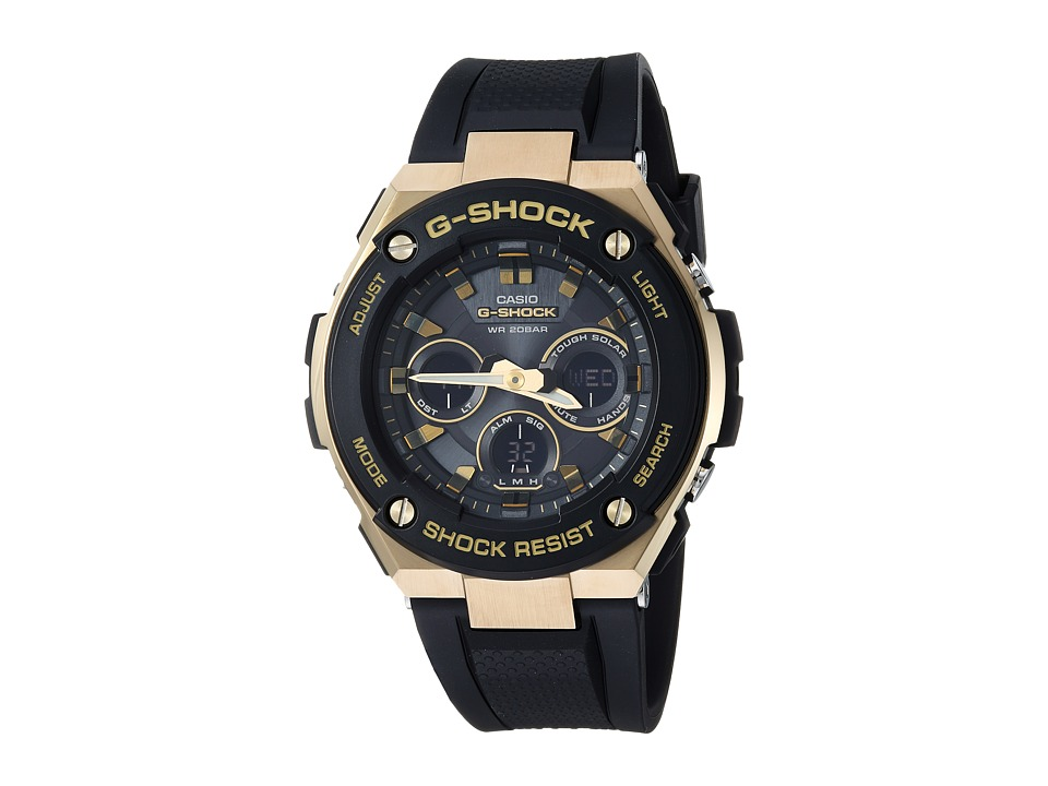 G-Shock - GST-S300G-1A9 (Black/Gold) Stopwatch Watches