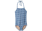 Toobydoo Tropical Multi Blue One-Piece Swimsuit (Infant/Toddler/Little Kids/Big Kids)