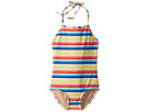 Toobydoo Retro Rainbow Stripe One-Piece Swimsuit (Infant/Toddler/Little Kids/Big Kids)