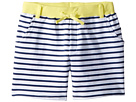 Toobydoo Navy White Stripe French Terry Camp Shorts (Toddler/Little Kids/Big Kids)