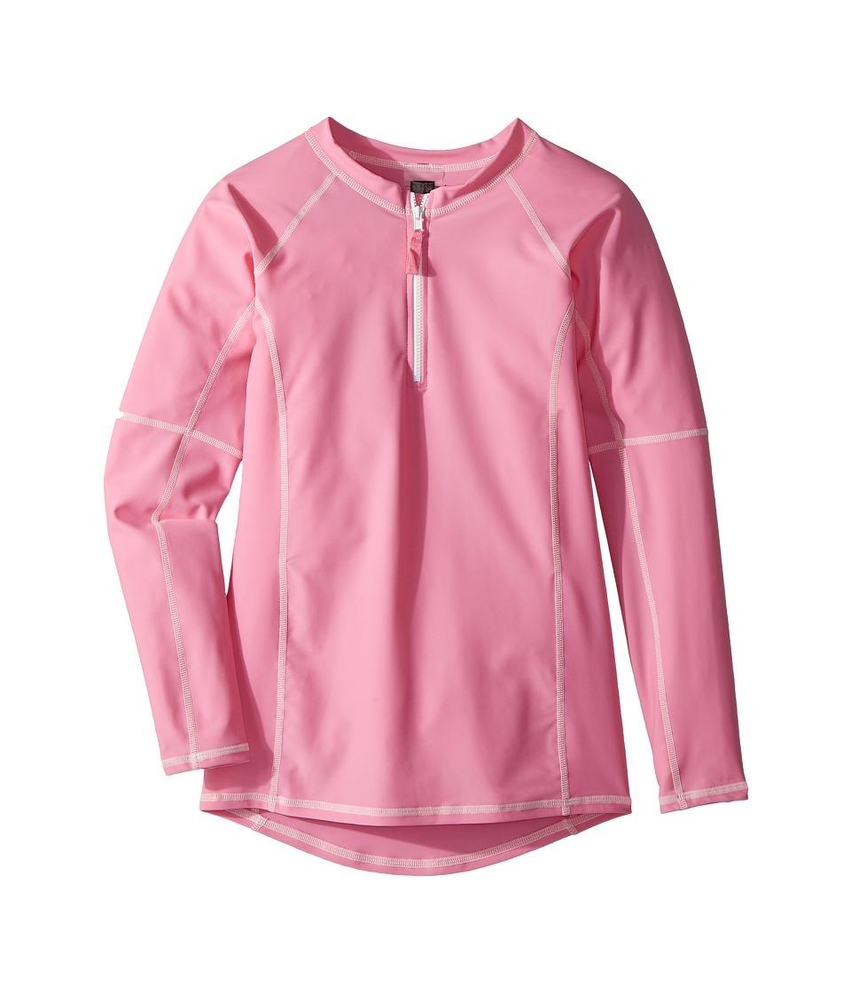 Toobydoo Pink Rashguard w/ Long Sleeves (Infant/Toddler/Little Kids/Big Kids) (Pink) Girl