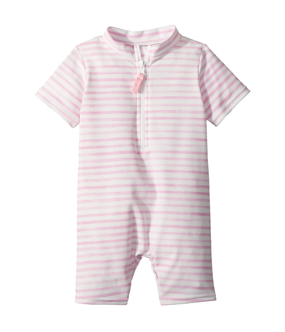Toobydoo - Sweet Pink Stripe Sunsuit (Infant/Toddler) (Pink) Girls Jumpsuit & Rompers One Piece