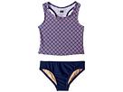 Toobydoo Toobydoo Navy Pink Pattern Tankini (Infant/Toddler/Little Kids/Big Kids)