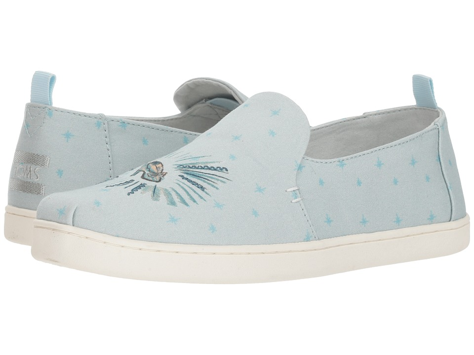 TOMS Disney Deconstructed Alpargata (Blue Cinderella Printed Canvas) Slip-On Shoes