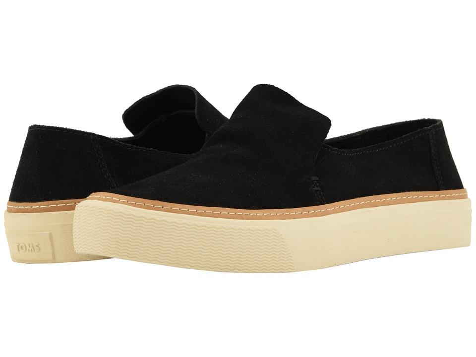 TOMS Sunset (Black Suede) Slip-On Shoes