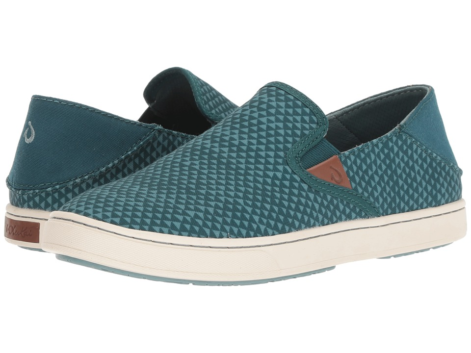OluKai Pehuea Pa'i (Deep Teal/Triangle) Women's Shoes