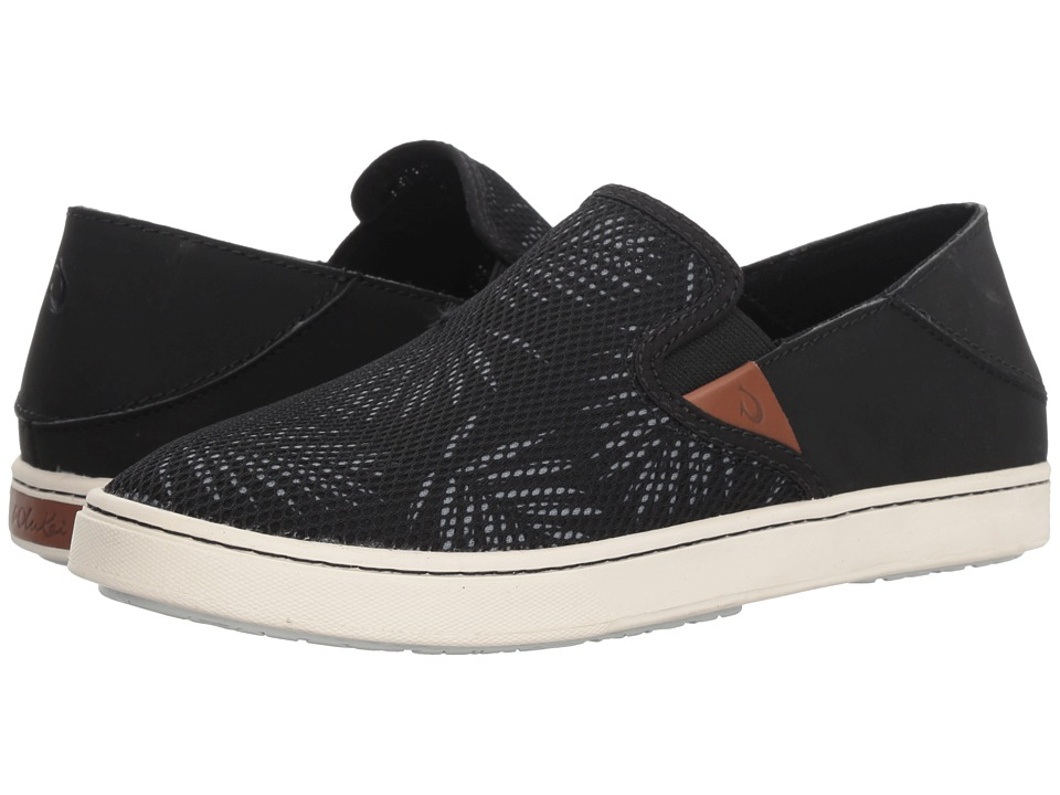 OluKai Pehuea (Black/Palm) Slip-On Shoes